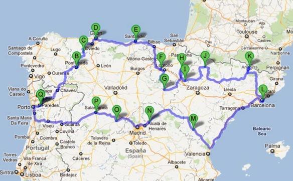 mapa norte portugal espanha 1. Passeando pelo norte de Espanha | Passeando pela vida mapa norte portugal espanha